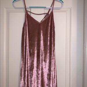 Small Pink Suede Dress